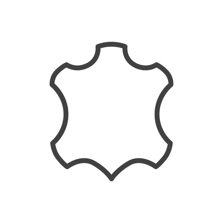 sewing machines: Isolated Skin Outline Symbol On Clean Background. Vector Leather Element In Trendy Style.