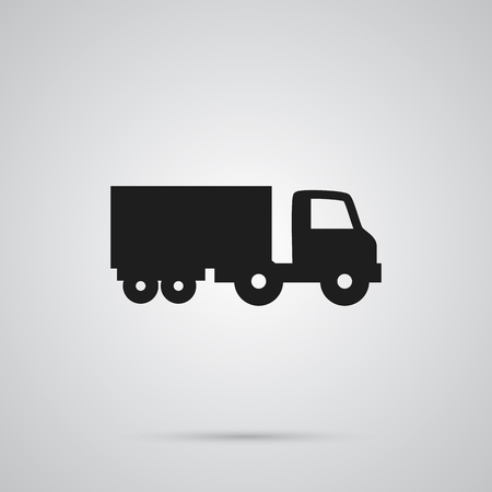 automotive industry: Isolated Lorry Icon Symbol On Clean Background. Vector Truck Element In Trendy Style.