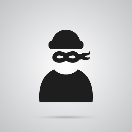 jailer: Isolated Criminal Icon Symbol On Clean Background. Vector Thief Element In Trendy Style.
