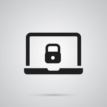 security monitor: Isolated Laptop Icon Symbol On Clean Background. Vector Notebook  Element In Trendy Style. Illustration