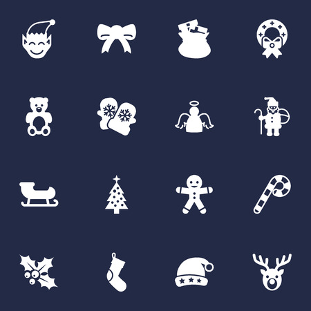 Set Of 16 New Icons Set.Collection Of Gnome, Bear, Decoration And Other Elements.