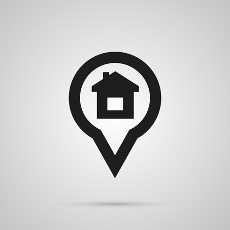 Isolated Location Icon Symbol On Clean Background. Vector Pin Element In Trendy Style.