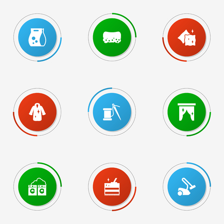 Set Of 9 Cleaning Icons Set