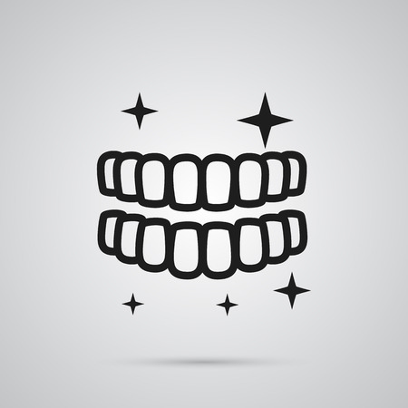 Isolated Teeth Icon Symbol Ilustrace