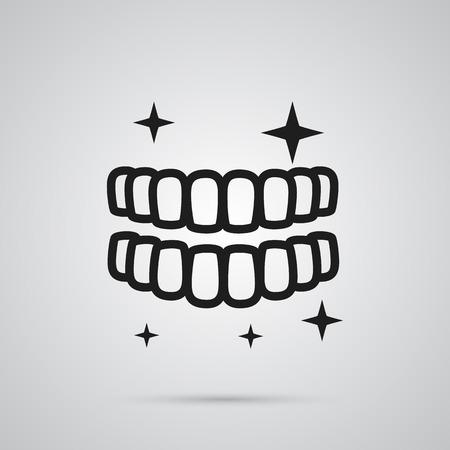 Isolierte Zähne Symbol Symbol Standard-Bild - 84521152