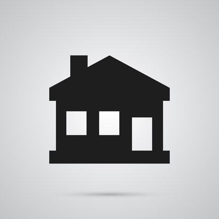 Isolated House Icon Symbol On Clean Background. Vector Home Element In Trendy Style.