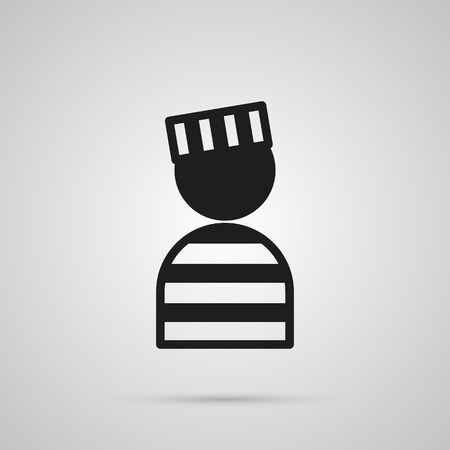 Isolated Convict Icon Symbol On Clean Background. Vector Prisoner Element In Trendy Style.