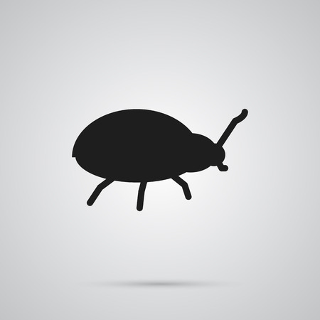 Isolated Beetle Icon Symbol On Clean Background. Vector Bug Element In Trendy Style.