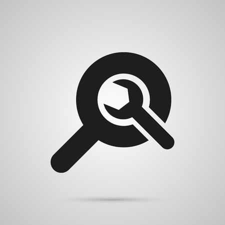 Isolated Wrench Icon Symbol On Clean Background. Vector Search  Element In Trendy Style.