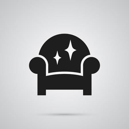 Isolated Furniture Icon Symbol On Clean Background. Vector Armchair Element In Trendy Style. Illustration