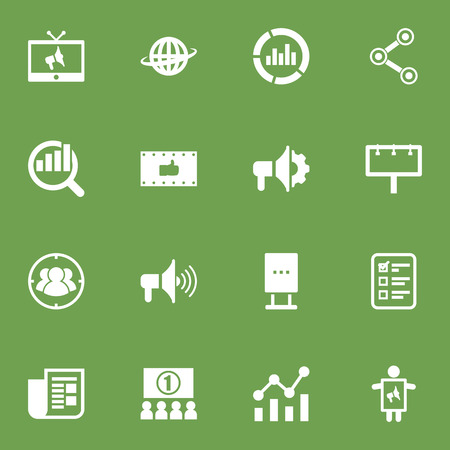 Set Of 16 Commercial Icons Set.Collection Of Share, Placard, Journal And Other Elements.