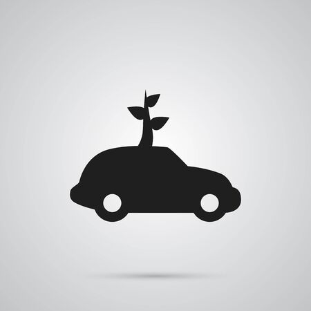 Isolated Ecology Icon Symbol On Clean Background. Vector Car Element In Trendy Style.