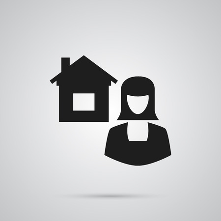 Isolated Broker Icon Symbol On Clean Background. Vector Real Estate Agent Element In Trendy Style.