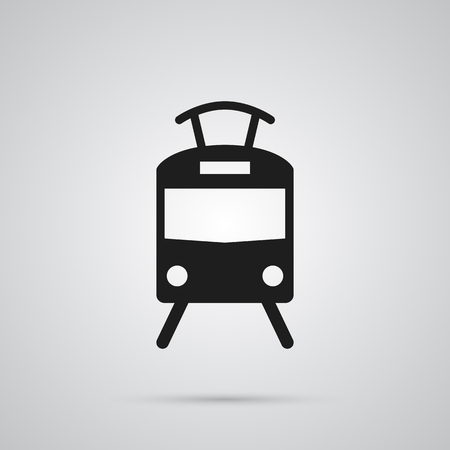 Isolated Tram Icon Symbol On Clean Background. Vector Streetcar  Element In Trendy Style. Illustration
