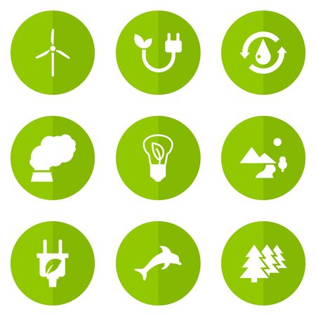 Set Of 9 Bio Icons Set.Collection Of Fish, Reforestation, Treatment And Other Elements.
