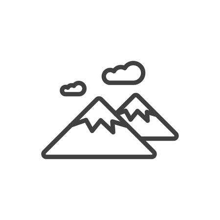 Outline Mountain icon.