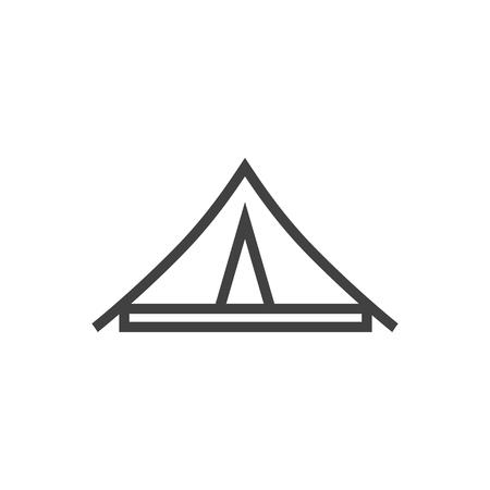 Isolated Tent Outline Symbol On Clean Background. Vector Awning Element In Trendy Style.