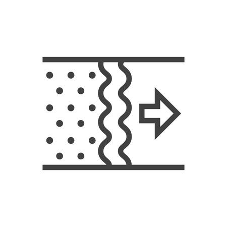 Isolated Purification Outline Symbol On Clean Background. Vector Air Element In Trendy Style. Illustration