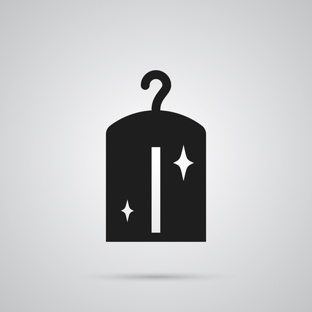 suspender: Isolated Dry Cleaning Icon Symbol On Clean Background. Vector Clothes Element In Trendy Style.