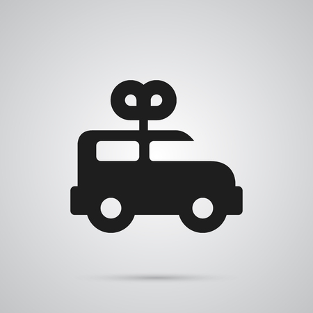 Isolated Clockwork Car Icon Symbol On Clean Background. Vector Bus  Element In Trendy Style. Ilustração