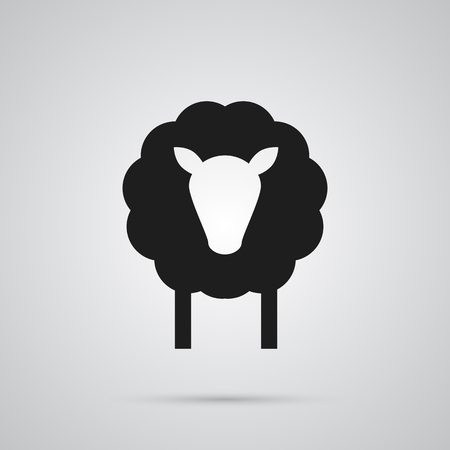 Isolated Sheep Icon Symbol On Clean Background. Vector Lamb Element In Trendy Style. 矢量图像
