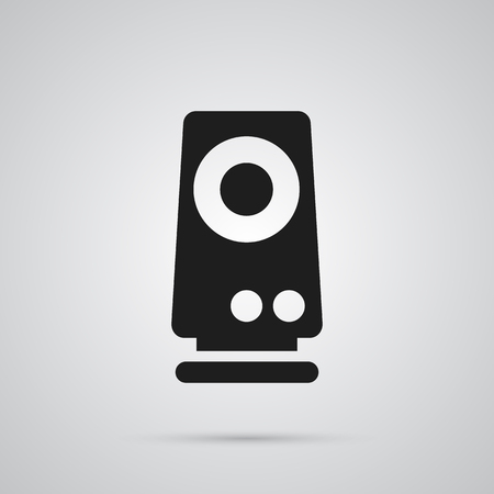 Isolated Speaker Icon Symbol On Clean Background. Vector Amplifier Element In Trendy Style. Illustration