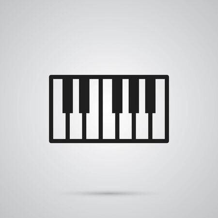 Isolated Piano Keys Icon Symbol On Clean Background. Vector Octave Keyboard Element In Trendy Style.