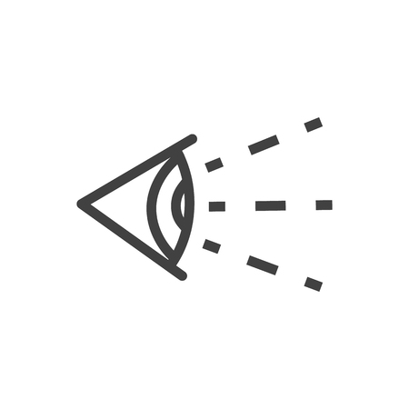 Isolated Eye Outline Symbol On Clean Background. Vector Vision Element In Trendy Style. Illustration