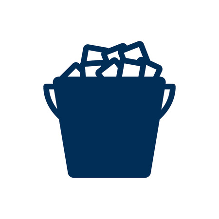 champagne celebration: Isolated Ice Bucket Icon Symbol On Clean Background. Vector Fridge Element In Trendy Style.
