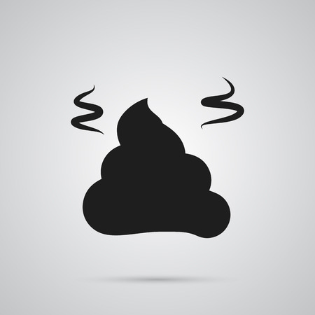 Isolated Pile Of Poo Icon Symbol On Clean Background. Vector Pile  Element In Trendy Style. 向量圖像