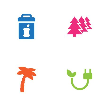 atmosphere: Set Of 4 Atmosphere Icons Set. Illustration