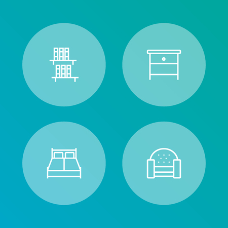 Set of 4 situation outline icons set.