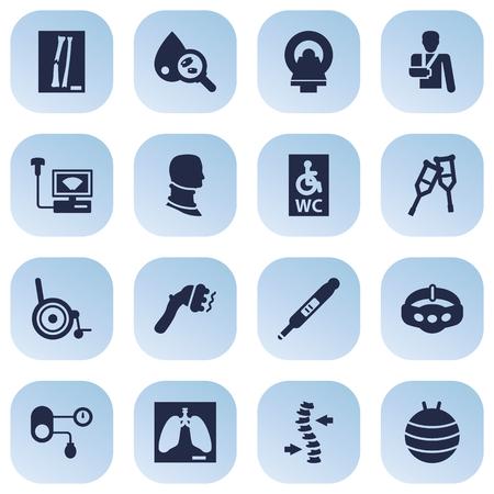 Set Of 16 Medicine Icons Set.
