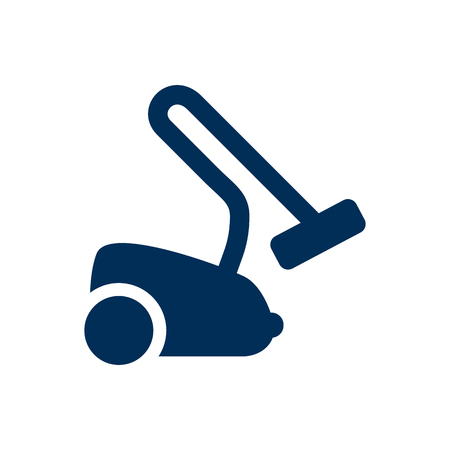 Isolated Vacuum Cleaner Icon Symbol On Clean Background. Vector Hoover Element In Trendy Style.
