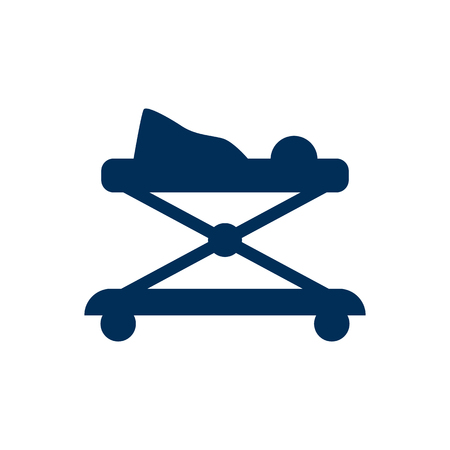 Isolated Walker Icon Symbol On Clean Background. Vector Stroller Element In Trendy Style. Иллюстрация