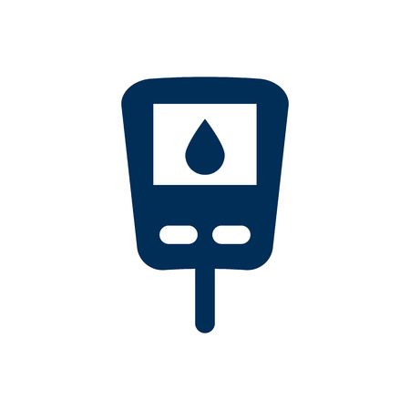 Isolated glucometer icon symbol. Vector diabetes element in trendy style.