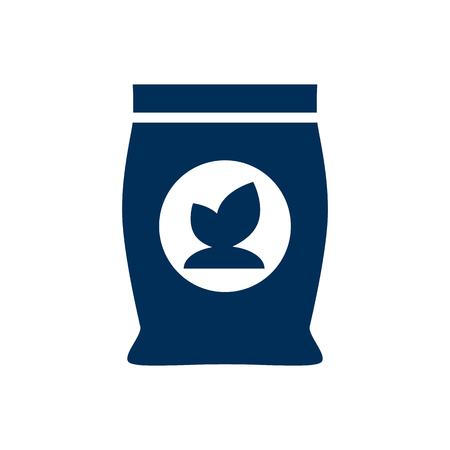 Isolated fertilizer icon symbol. Vector phosphorus element in trendy style.