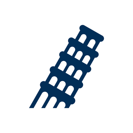 city building: Leaning tower icon.