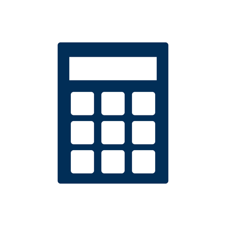 school: Vector Calculate  Element In Trendy Style.  Isolated Calculator Icon Symbol On Clean Background. Illustration