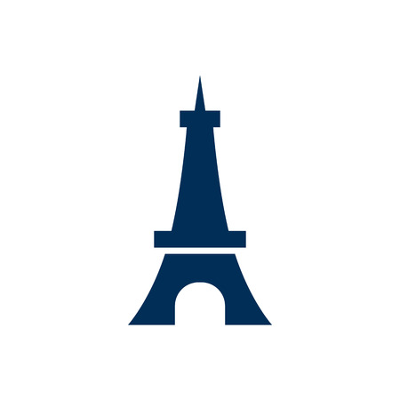 Isolated Eiffel Tower Icon Symbol On Clean Background