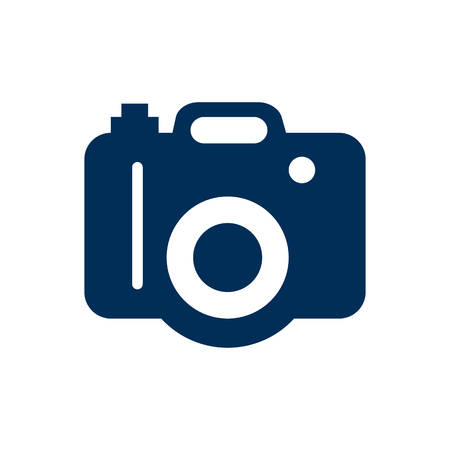 Isolated Dslr Camera Icon Symbol On Clean Background Çizim