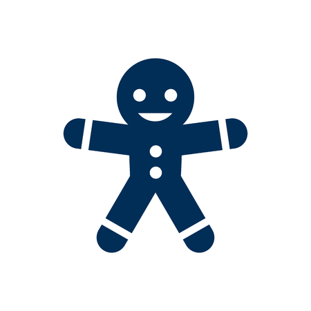 Isolated Gingerbread Man Icon Symbol On Clean Background