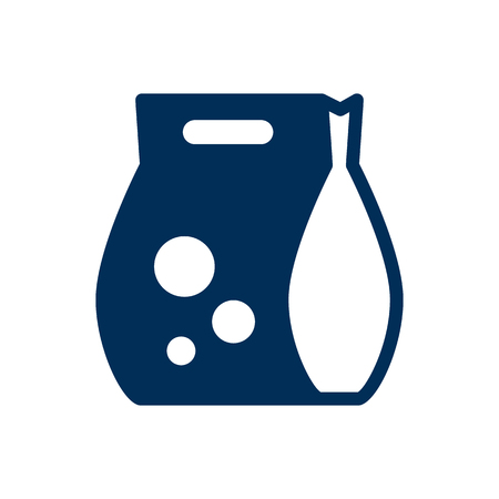Isolated Detergent Icon Symbol On Clean Background. Vector Washing Powder  Element In Trendy Style.