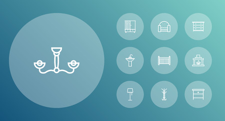 Set Of 10 Outline Icons.