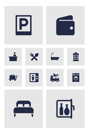 Set Of 12 Travel Icons Set.Collection Of Road Sign, Cafe, Chiller And Other Elements.