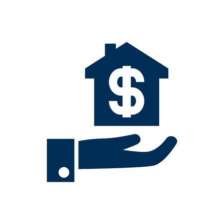 Isolated Mortgage Icon Symbol On Clean Background. Vector Hypothec Element In Trendy Style. Ilustração