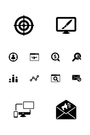 Set Of 12 Optimization Icons Set.Collection Of Warning, Responsive, Dartboard And Other Elements.