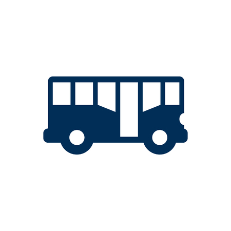 Vector Auto bus Element In Trendy Style. Illustration