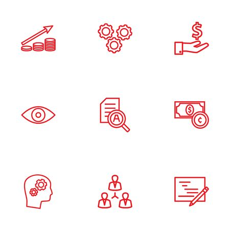 preference: Collection Of Research, Working Process, Money Saving And Other Elements. Illustration