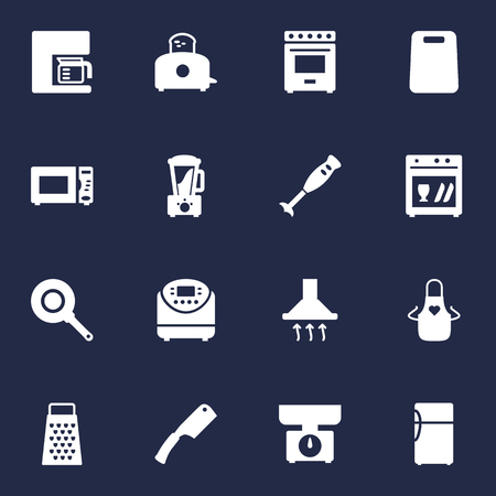 Set Of 16 Cooking Icons Set.Collection Of Slicer, Furnace, Espresso And Other Elements. Stock Photo